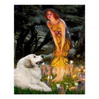 Great Pyrenees 2- MidEve Poster