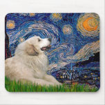 Great Pyrenees 2 - Starry Night Mouse Pad