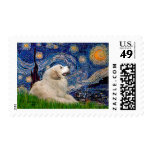 Great Pyrenees 2 - Starry Night Postage Stamps
