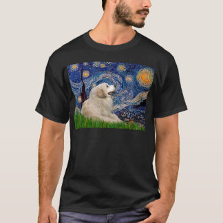 Great Pyrenees 2 - Starry Night T-Shirt