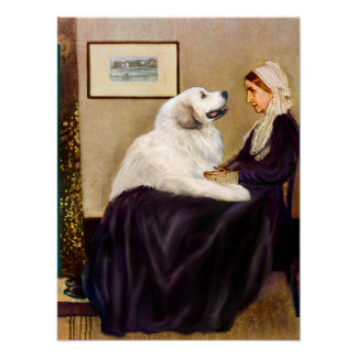 Great Pyrenees 2 - WHistler's Mother Poster