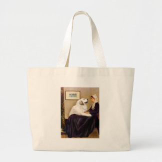 Great Pyrenees 2 - WHistler's Mother Large Tote Bag