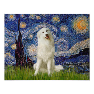 Great Pyrenees 3 - Starry Night Posters