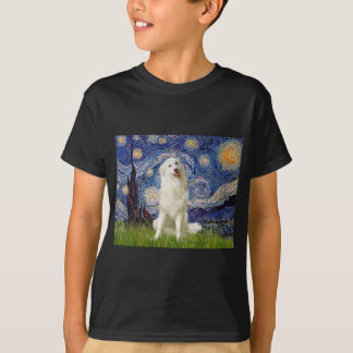 Great Pyrenees 3 - Starry Night T-Shirt