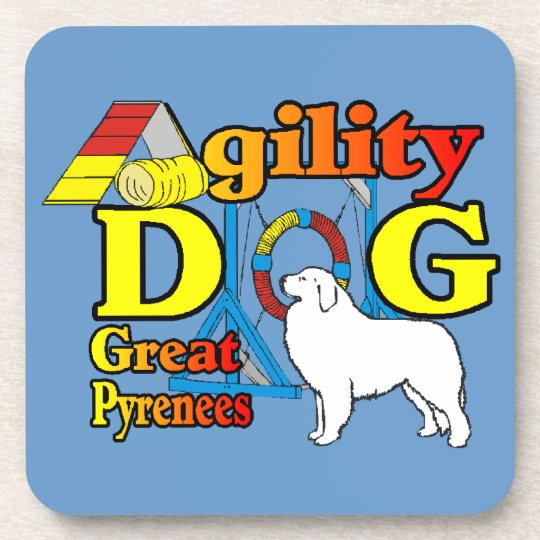 great_pyrenees_agility beverage coaster