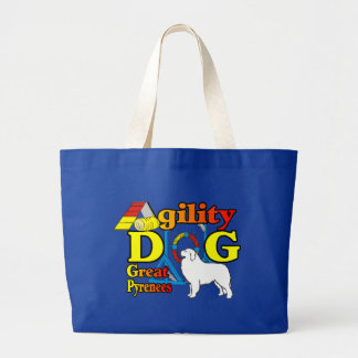 Great Pyrenees Agility Gifts Large Tote Bag