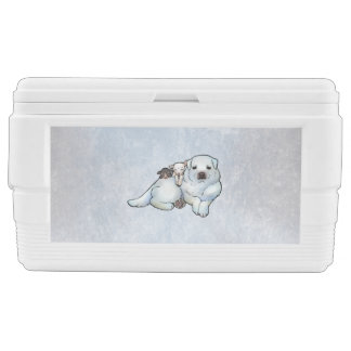 Great Pyrenees and Lambs Chest Cooler