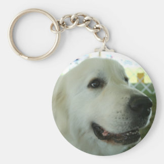 Great Pyrenees Basic Round Button Keychain