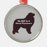 Great Pyrenees BFF Christmas Ornaments