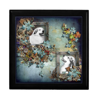 Great Pyrenees Blue Scene Premium Gift Box - Large