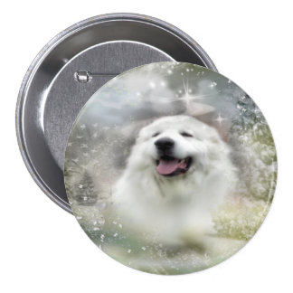 Great Pyrenees Button - Winter Design
