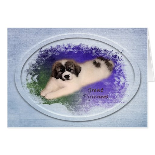 """Great Pyrenees Card - """"Color My World"""" Puppy"""