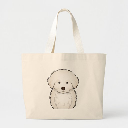 Great Pyrenees Cartoon Jumbo Tote Bag