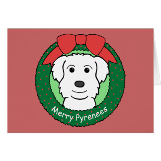 Great Pyrenees Christmas Stationery Note Card