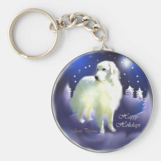 Great Pyrenees Christmas Gifts Keychain
