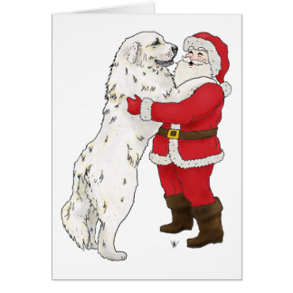 Great Pyrenees Christmas Greeting Greeting Card