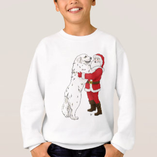 Great Pyrenees Christmas Greeting Sweatshirt