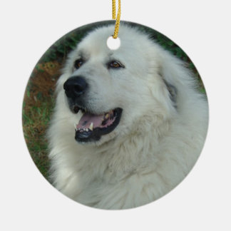 Great Pyrenees CHRISTMAS ORNAMENT PORTRAIT