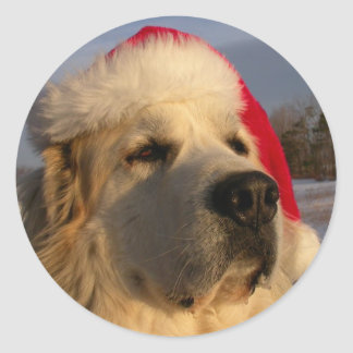 Great Pyrenees Christmas Sticker