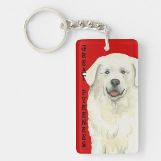 Great Pyrenees Color Block Keychain