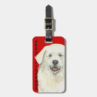 Great Pyrenees Color Block Luggage Tag