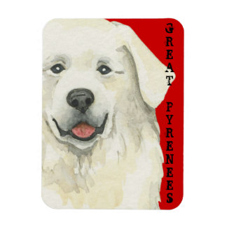 Great Pyrenees Color Block Magnet