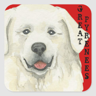 Great Pyrenees Color Block Square Sticker