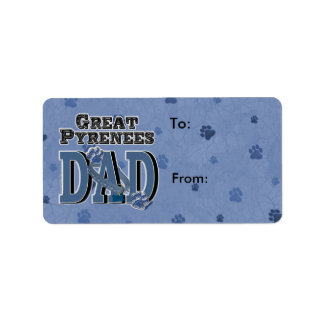 Great Pyrenees DAD Address Label