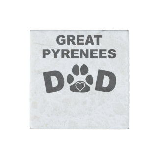 Great Pyrenees Dad Stone Magnet