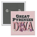Great Pyrenees DIVA Pinback Button