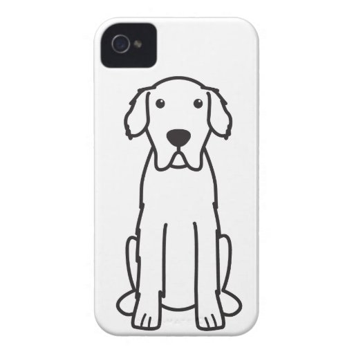 Great Pyrenees Dog Cartoon iPhone 4 Case-Mate Case