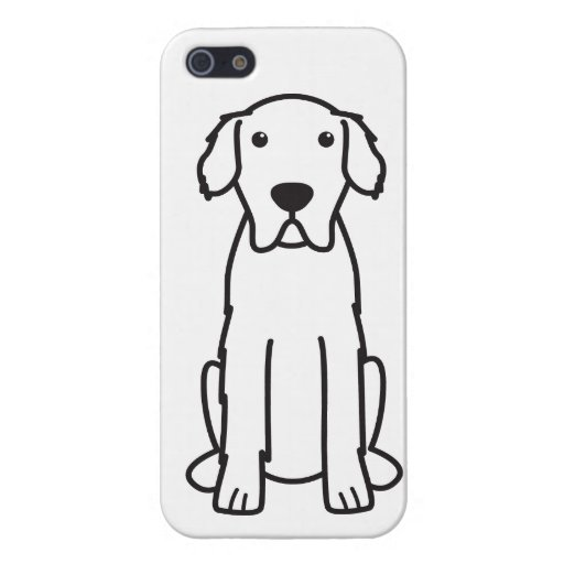 Great Pyrenees Dog Cartoon iPhone 5 Case