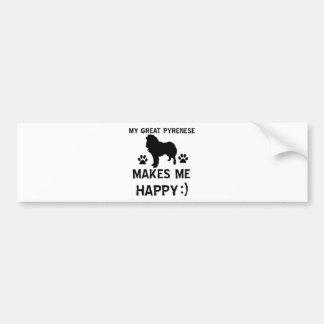 Great pyrenees dog designs bumper sticker