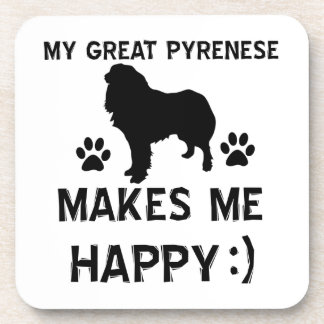 Great pyrenees dog designs coasters