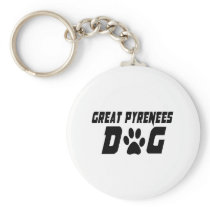 GREAT PYRENEES DOG DESIGNS KEYCHAIN