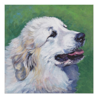 Great Pyrenees Dog Fine Art Poster Print