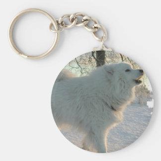 Great Pyrenees Dog Keychain