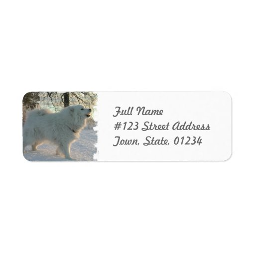 Great Pyrenees Dog Return Address Label