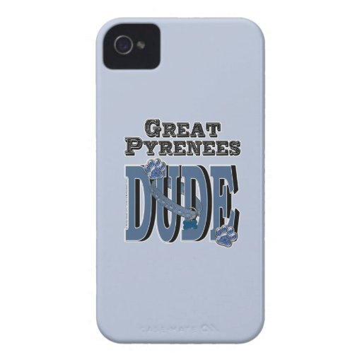 Great Pyrenees DUDE iPhone 4 Cases