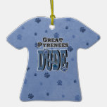 Great Pyrenees DUDE Christmas Tree Ornament
