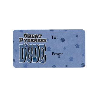 Great Pyrenees DUDE Address Label