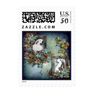 """Great Pyrenees """"Father and Son"""" Design Postage"""