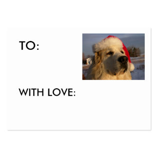 Great Pyrenees GIFT TAG - WITH LOVE: Large Business Card