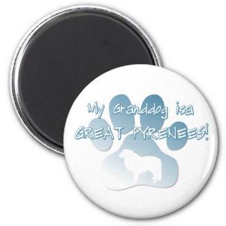 Great Pyrenees Granddog 2 Inch Round Magnet