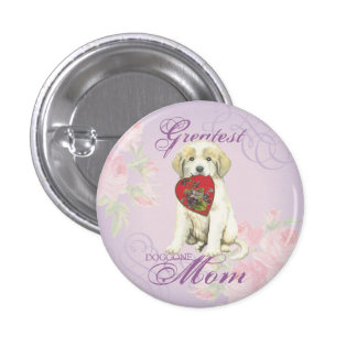 Great Pyrenees Heart Mom Button