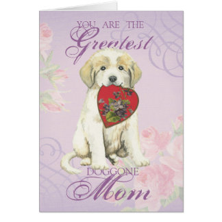 Great Pyrenees Heart Mom Card