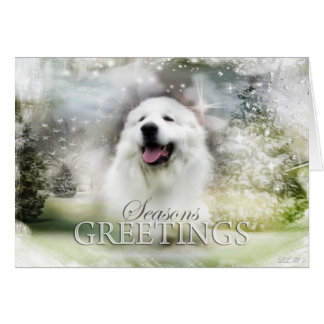 Great Pyrenees Holiday/Seasons Card