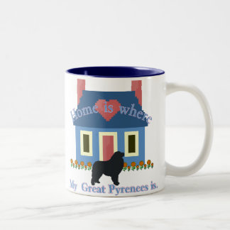 Great Pyrenees Home is Two-Tone Coffee Mug