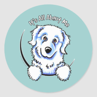 Great Pyrenees Its All About Me Classic Round Sticker