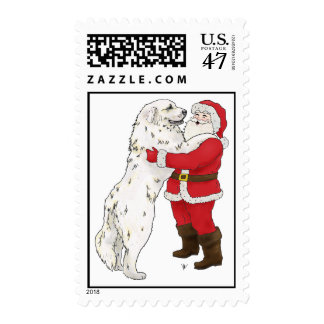 Great Pyrenees Jowly Greeting Postage